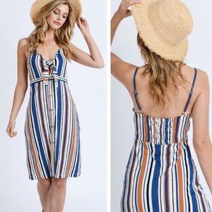 Dresses & Skirts - Front tie multi strap dress